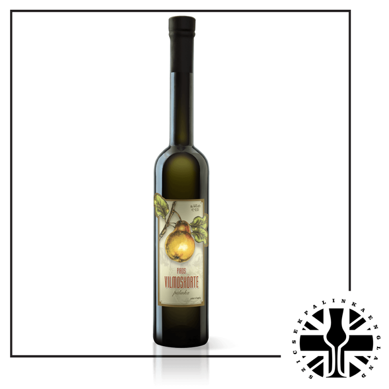 Premium Red Williams Pear Palinka (44%ABV, 0.5L)