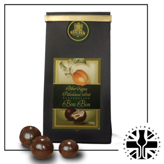 Apricot Palinka Dark Chocolate Liquor 100 gr