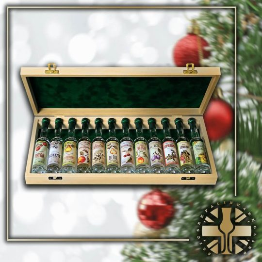 Xmas 12pcs Miniature Palinka Selection
