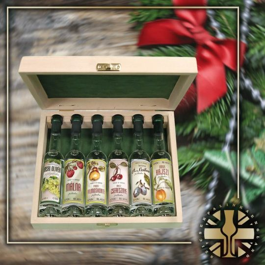 Xmas 6pcs Miniature Palinka Selection