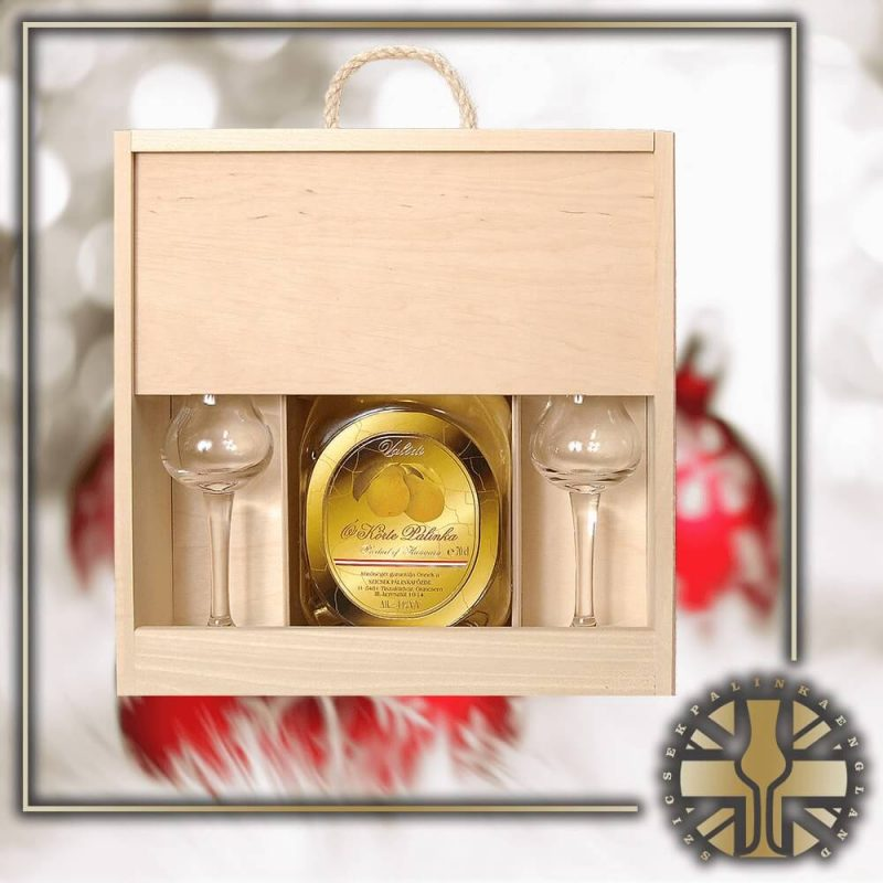 3YO Aged Palinka with 2 Tulip Glasses in a Giftbox