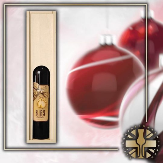 Xmas Wooden box with a Premium Palinka