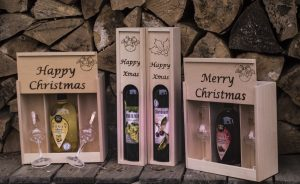 palinka gift wood boxes